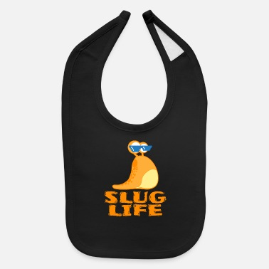 Hip A Cool Thug Life Tee For Gangster Snail Slug - Baby Bib