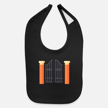 Gate gate illustration - Baby Bib