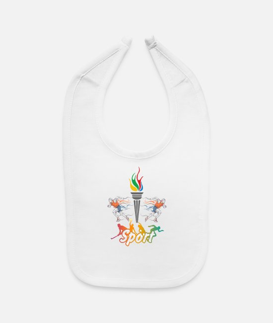 Design Baby Bibs - Sports Players - Baby Bib white