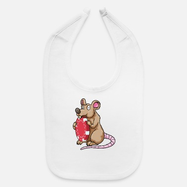 Boy Mouse at Poker with Poker chips - Baby Bib