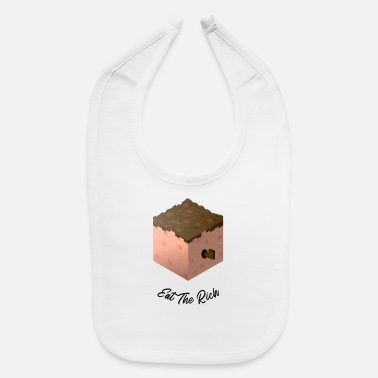 Give Eat The Rich Pixelated Worm - Baby Bib