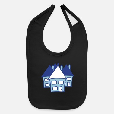 Neighborhood Houses neighborhood - Baby Bib