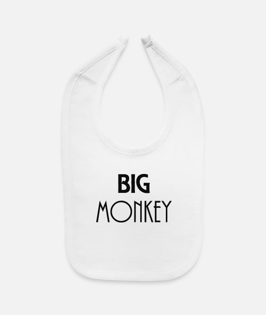Big Baby Clothing - Big Monkey - Baby Bib white