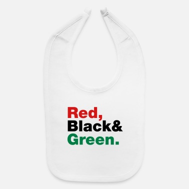 Red Black And Green Red, Black & Green. - Baby Bib