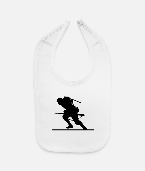 WW1 Baby Bibs - world war - Baby Bib white