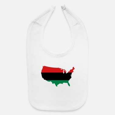 Red Black And Green African American _ Red, Black & Green Colors - Baby Bib