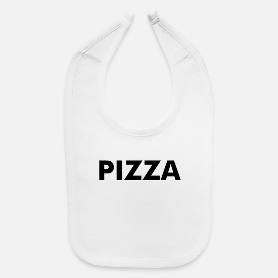 Pizza Baby Clothing - Pizza - Baby Bib white