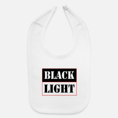 Black Light Black light red - Baby Bib