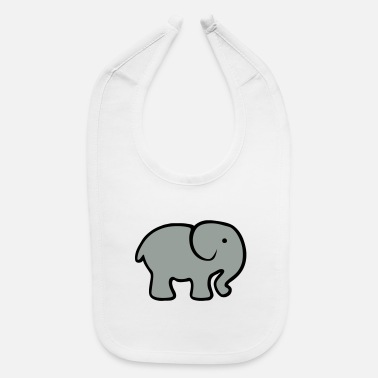 Cute Baby Cartoon Elephant - Baby Bib