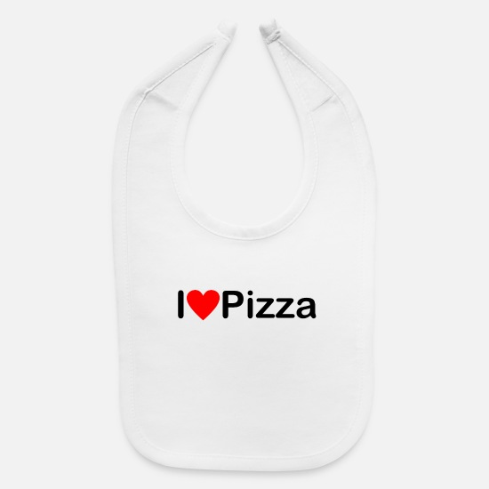 Pizza Baby Clothing - Pizza | I love Pizza - Baby Bib white