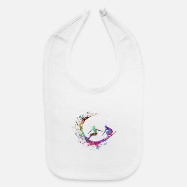 Couples Surfer Couple - Baby Bib