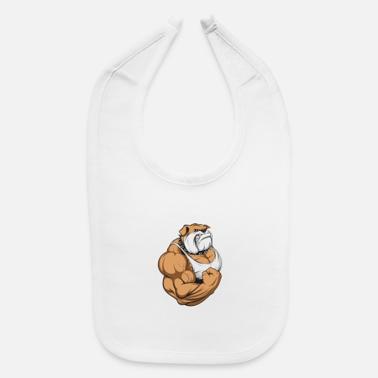 Bodybuilding Baby Clothing - Bodybuilding rocks - Baby Bib white