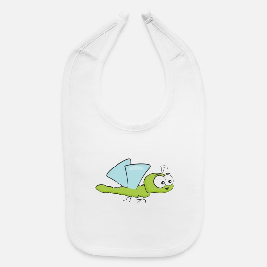 Bee Baby Clothing - Funny Insect Bee Flying - Baby Bib white