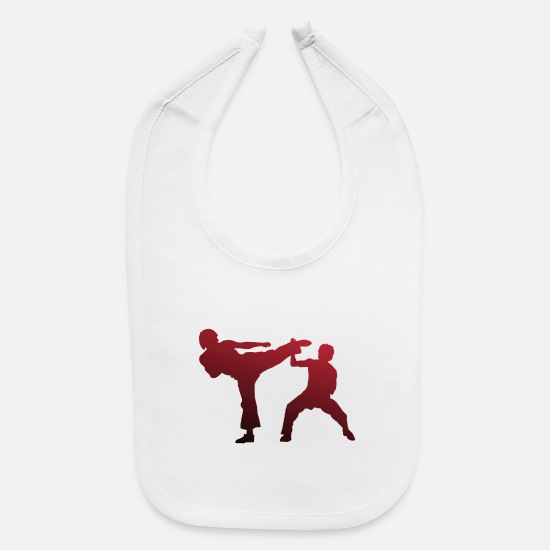 Martial Arts Baby Clothing - karate martial arts thai boxing ninja kickboxing30 - Baby Bib white