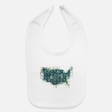 Periodic Table Periodic Table of the States - Baby Bib