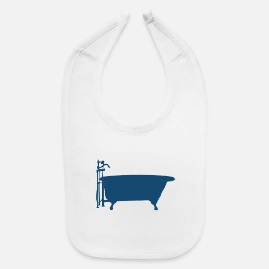 Shower Baby Clothing - bad bath badewanne bathtube shower dusche18 - Baby Bib white
