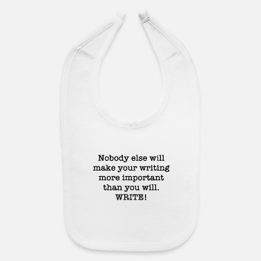 Writing write - Baby Bib
