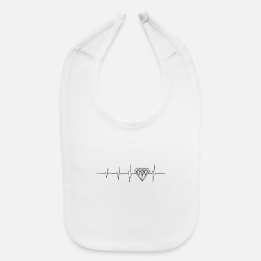 Luxury Heartbeat for luxury - Baby Bib