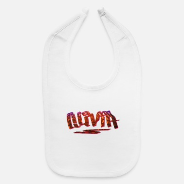 Birth Name Olivia Name Design - Baby Bib
