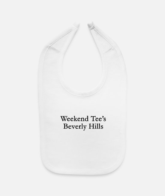 Usa Baby Clothing - Weekend tees Beverly Hills - Baby Bib white