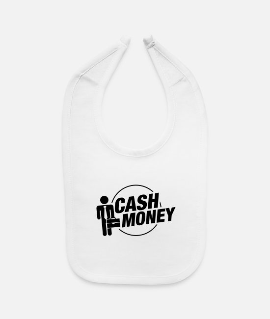 Money Baby Bibs - cash_money_business_pu1 - Baby Bib white