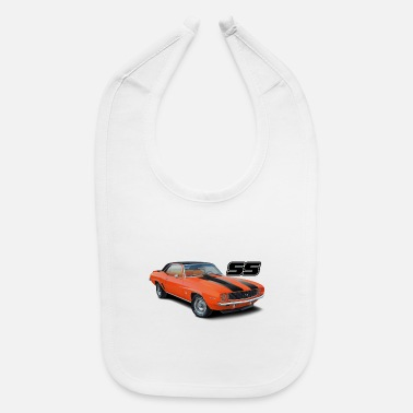 1969 1969 Orange Camaro - Baby Bib