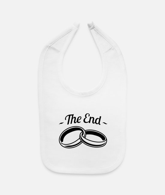 Anger Baby Bibs - the_end_marriage_hy1 - Baby Bib white