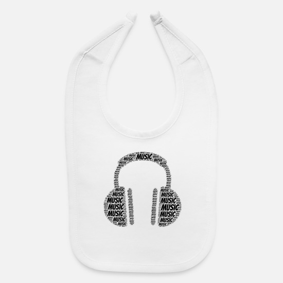 Birthday Baby Clothing - Music | Presents - Baby Bib white