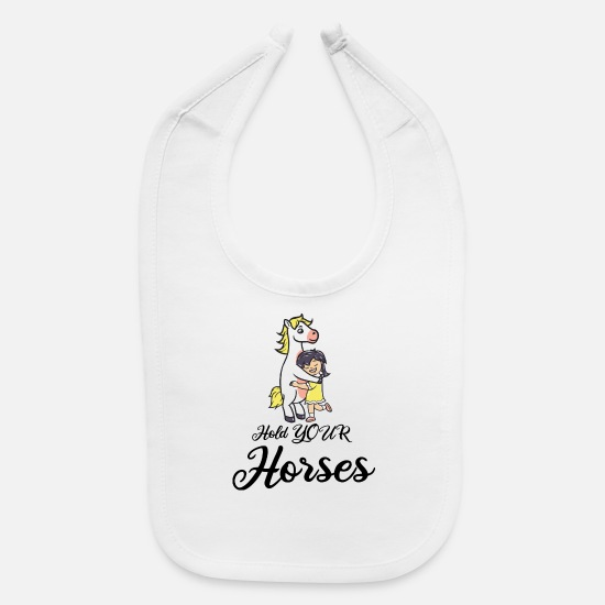 Dancing Baby Clothing - Pony - Baby Bib white