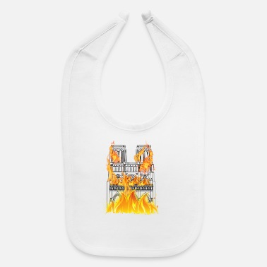 Cathedral Notre Dame Cathedral Fire - Baby Bib