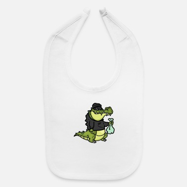 Steal Alligator is to Steal - Baby Bib