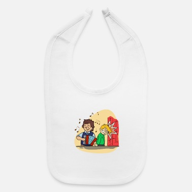 Countrymusic Against Anti Folk Music Polka Countrymusic Funny - Baby Bib