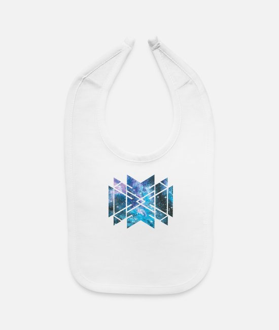 Geometry Baby Bibs - Sacred Geometry Cosmic Galaxy Universe Outer - Baby Bib white