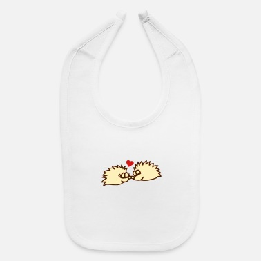 Sumu Lee hedgehogs in love - Baby Bib