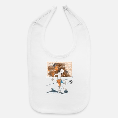 Serce I love Football - Baby Bib