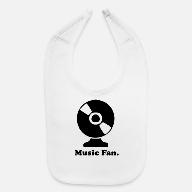 Fan Article Music Fan - Baby Bib