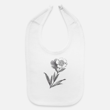 Ancient Ancient Flower - Baby Bib