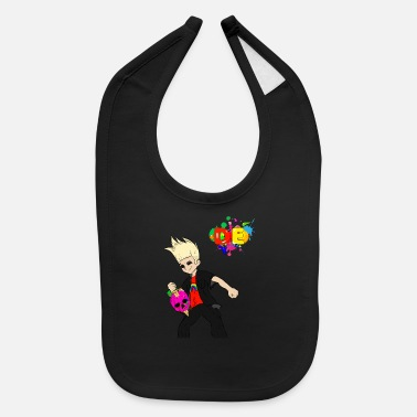 Nehe Drip Express (Johnny Test) - Baby Bib