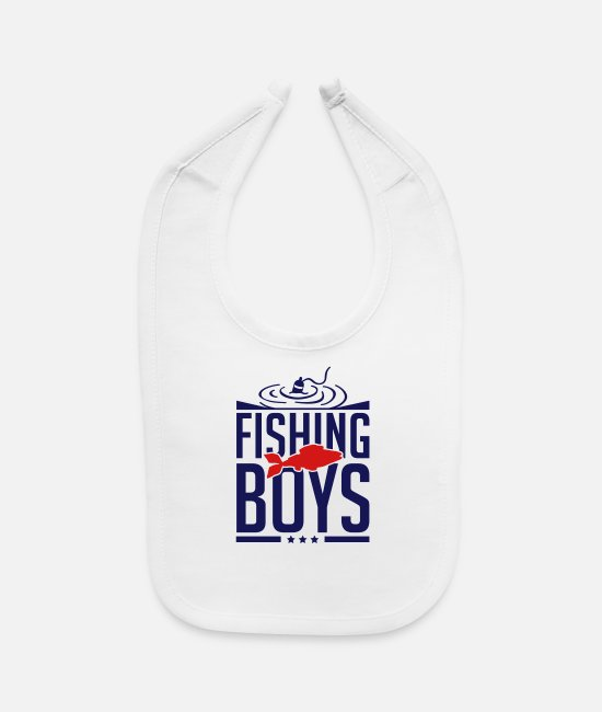 Carp Baby Bibs - fishing_boys_gi2 - Baby Bib white