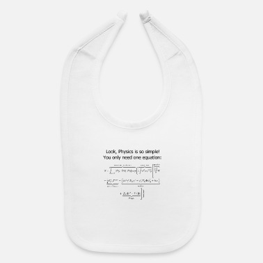 Uni Theoretical physics funny quote gift idea - Baby Bib