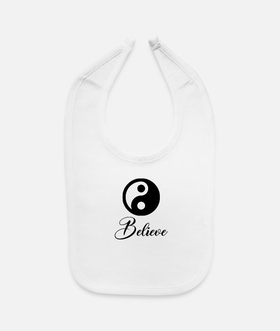 Yang Baby Bibs - Believe in the dualism of yin and yang - Baby Bib white