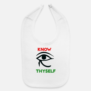 Ancient Egyptian Woman KNOW THYSELF ANCIENT EGYPTIAN EYE - Baby Bib