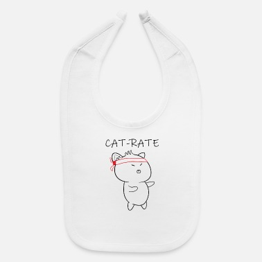 Karate Cat karate, cat rate - Baby Bib