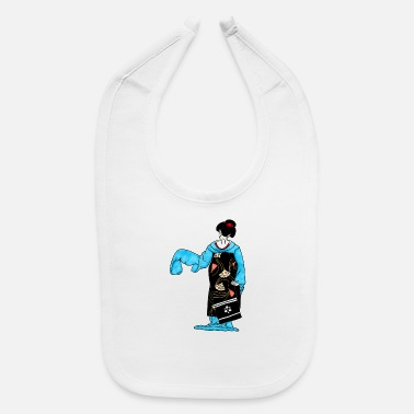 Dancing maiko - ink illustration - Baby Bib