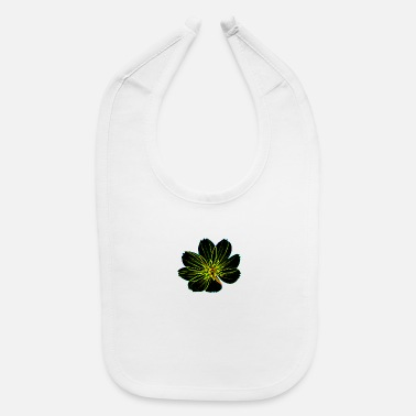 Black Light strange black light flower - Baby Bib