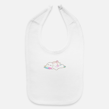 Wedding Day Sweet chubby Unicorn drink chilling chill out gift - Baby Bib