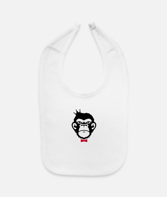 Headphones Baby Bibs - Monkey Business - Baby Bib white