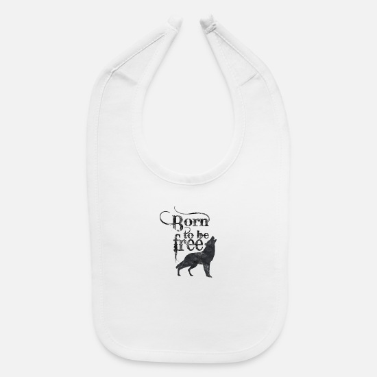 Typography Baby Clothing - Lonely Wolf - Baby Bib white