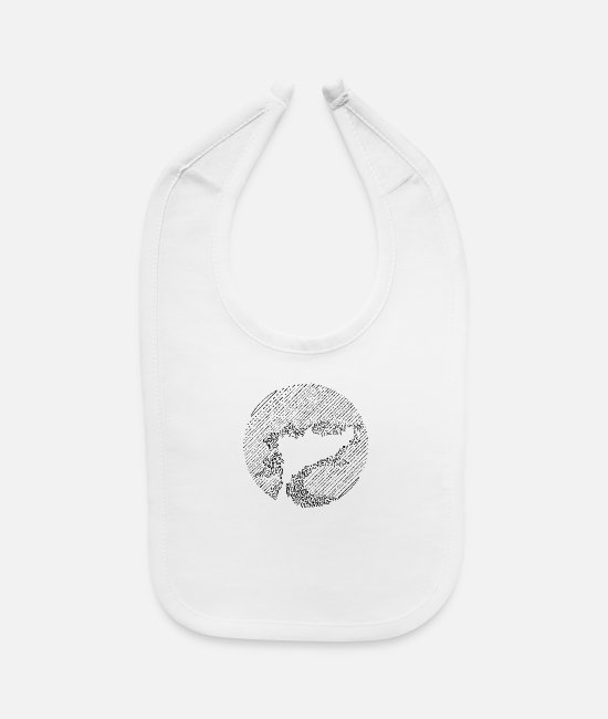 Dream Baby Bibs - Mystic Tree - Baby Bib white