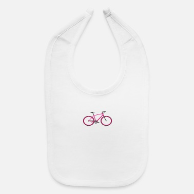 Single Speed Red Roadbike. Hipster. Single Speed - Baby Bib